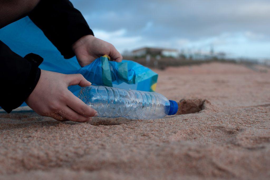 empty bottle on beach