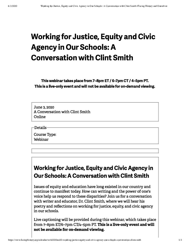Working for Justice, Equity and Civic Agency in Our Schools_ A Conversation with Clint Smith _ Facing History and Ourselves.pdf