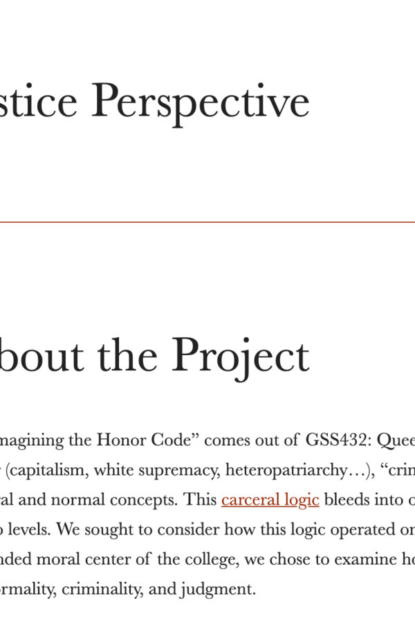 screenshot of transformative justice website